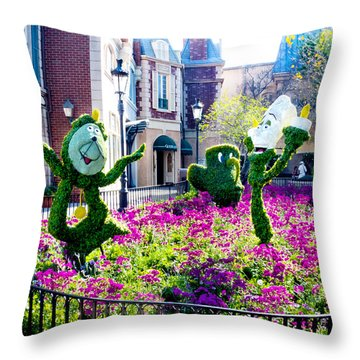 Cast Of The Beast Throw Pillow