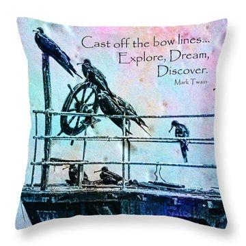 Cast Off Throw Pillow