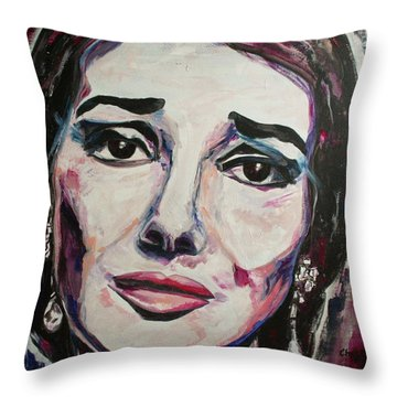 Casta Diva Throw Pillow