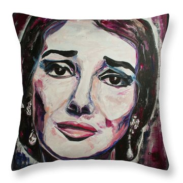 Casta Diva Throw Pillow