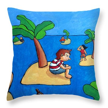 Castaways Throw Pillow by Whitney Morton
