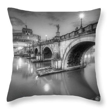 Castel Sant' Angelo Bw Throw Pillow