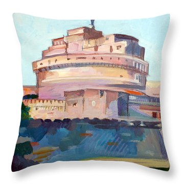 Castel Sant' Angelo Throw Pillow by Filip Mihail