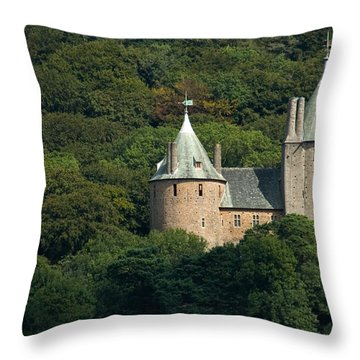 Throw Pillow featuring the photograph Castell Coch by Jeremy Voisey