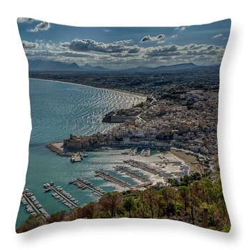 Castellammare Del Golfo Throw Pillow by Alan Toepfer