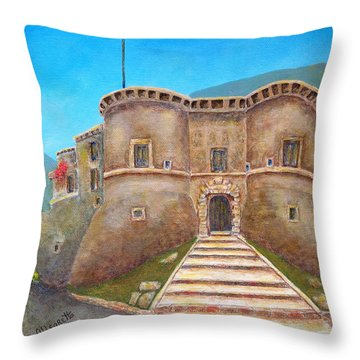 Castello Ducale Di Faicchio Throw Pillow by Pamela Allegretto