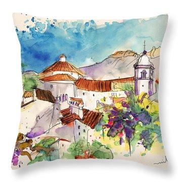 Castelo De Vide In Portugal 01 Throw Pillow by Miki De Goodaboom