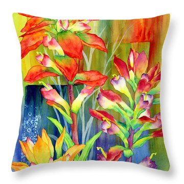 Castilleja Indivisa Throw Pillow