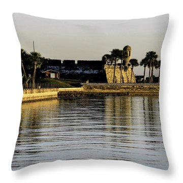 Castillo De San Marcos Throw Pillow by Anthony Baatz