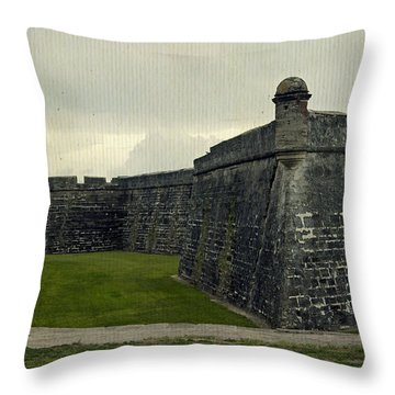 Castillo San Marcos 5 Throw Pillow by Laurie Perry
