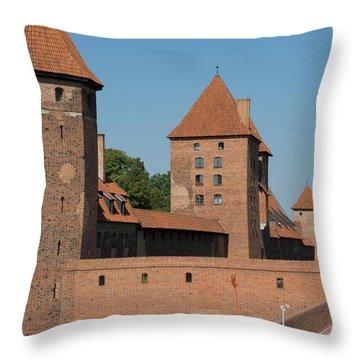 Castle Against Blue Sky, Malbork Throw Pillow