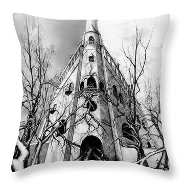 Castle At 600 Throw Pillow