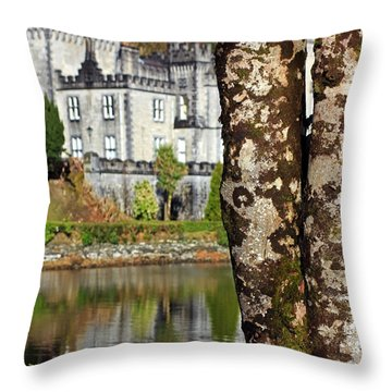 Castle Behind The Trees Throw Pillow