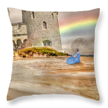 Castle By The Sea Throw Pillow by Betsy Knapp