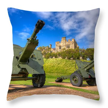 Castle Cannons Throw Pillow by Tim Stanley