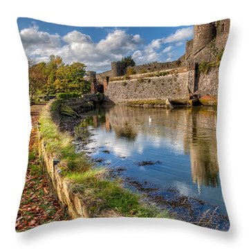 Castle Conwy Throw Pillow