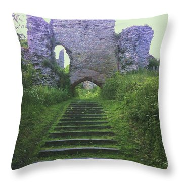 Throw Pillow featuring the photograph Castle Gate by John Williams
