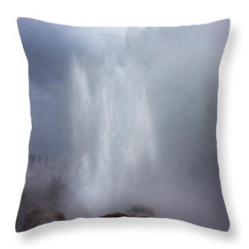 Castle Geyser In June Throw Pillow