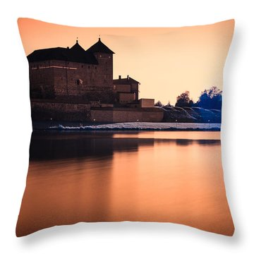 Castle In Artistic Infrared Image Throw Pillow