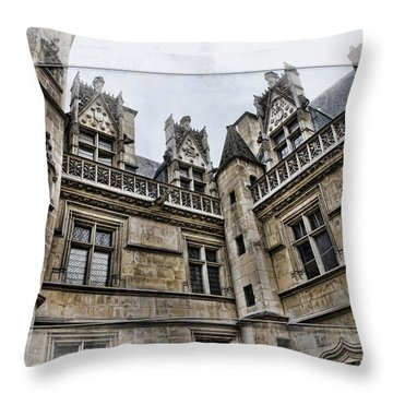 Castle In The Clouds Paris France Throw Pillow by Evie Carrier