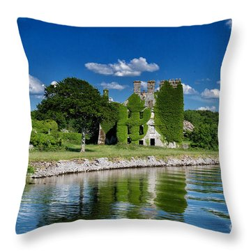 Throw Pillow featuring the photograph Castle Menlo  by Juergen Klust