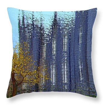 Throw Pillow featuring the digital art Castle by Nina Bradica
