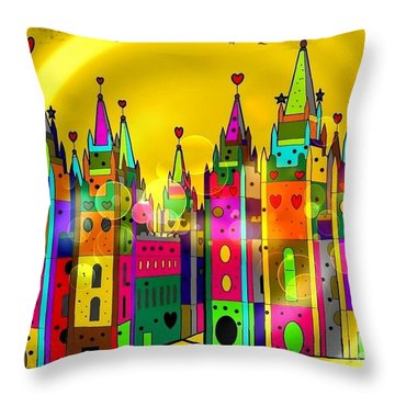 Castle Of Dreams By Nico Bielow Throw Pillow