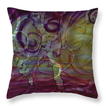 Castle Of Eden Throw Pillow by Luis  Navarro