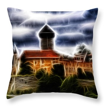 castle of the holy order - Sovinec Throw Pillow by Michal Boubin