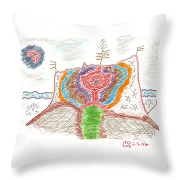 Castle Rose Throw Pillow