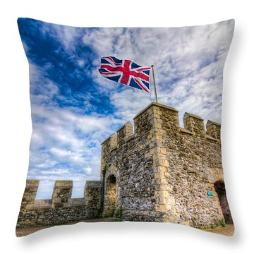 Castle Top Throw Pillow by Tim Stanley