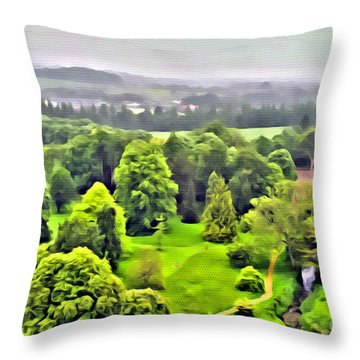 View From The Castle Throw Pillow