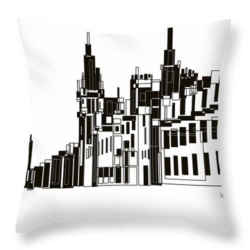 Castlegate Aberdeen Throw Pillow by Sheep McTavish