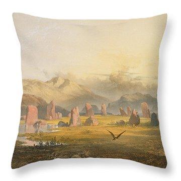 Castlerigg Stone Circle Near Keswick Throw Pillow by James Baker Pyne
