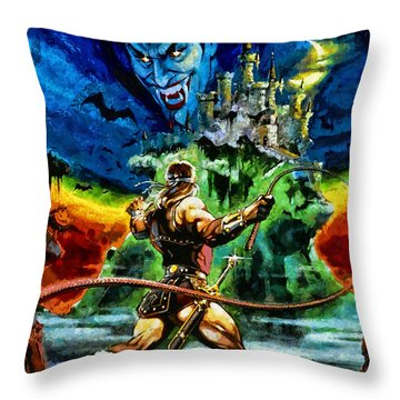 Castlevania Throw Pillow by Joe Misrasi