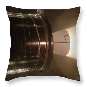 Throw Pillow featuring the photograph Castor 30 Rocket Motor by Science Source