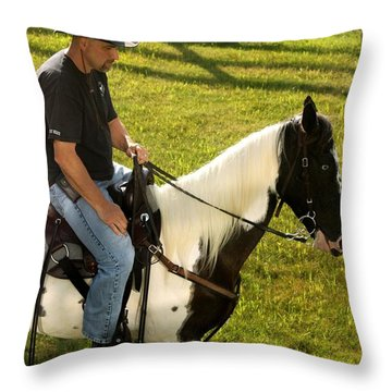 Casual Ride Throw Pillow