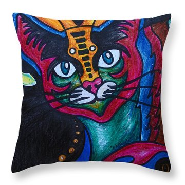 Cat 2 Throw Pillow
