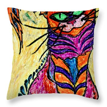 Cat 3 Throw Pillow