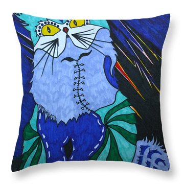 Cat 4 Throw Pillow