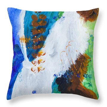 Cat At The Window Throw Pillow by Tracy L Teeter