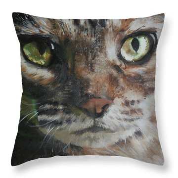 CaT Throw Pillow by Cherise Foster