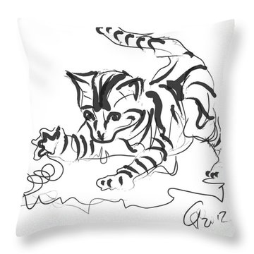 Cat- Cute Kitty  Throw Pillow