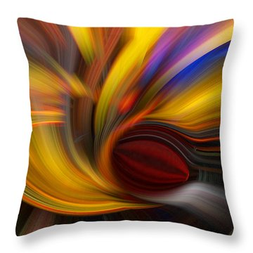 Cat Eye Abstract Throw Pillow