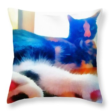 Cat Feet Throw Pillow by Derek Gedney