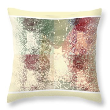 Cat Heaven Throw Pillow