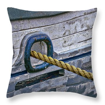 Cat Hole And Hawser Throw Pillow