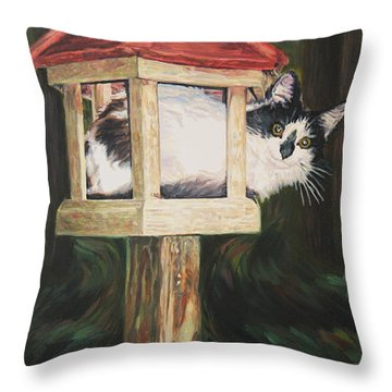 Cat House Throw Pillow
