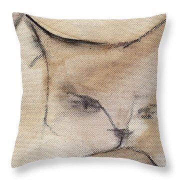 Cat In Wine 3 Throw Pillow