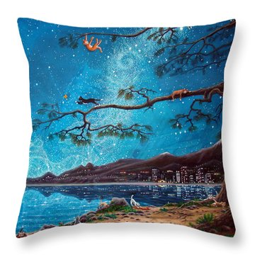 Cat Island Throw Pillow